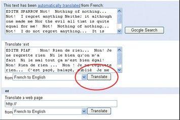 översätta en hel text