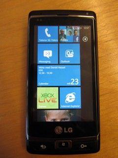 Windows Phone 7-meny