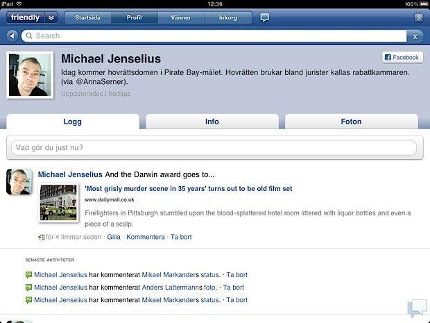 Friendly Facebook för Ipad