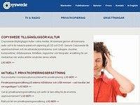 Webbsajt Copyswede