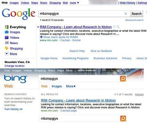 bing google kopiera sökresultat