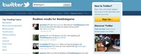 Twitter-sök