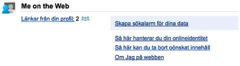 google Me on the web