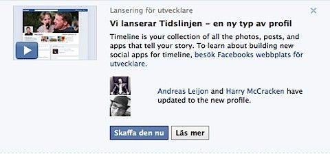 facebook tidslinje