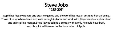 steve jobs dödsruna