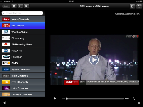 how to watch tv on ipad free