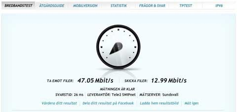 svarstid mobilt bredband