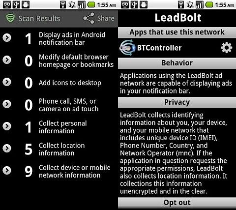 Ad Network Detector android