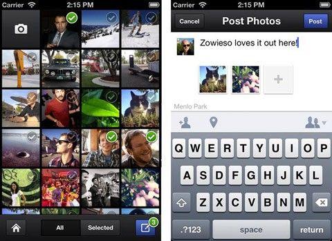 Facebook Cameras flöde