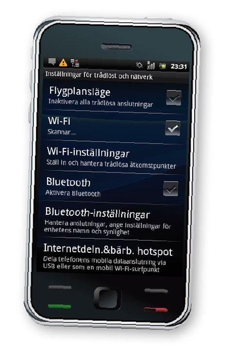 koppla upp program vara för Android