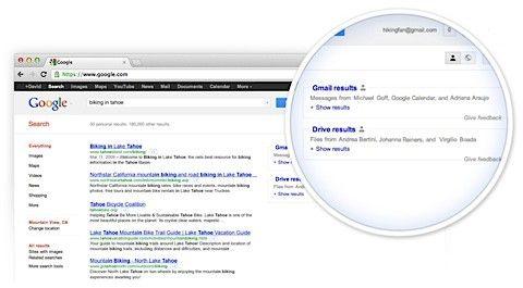 google personliga sökningar