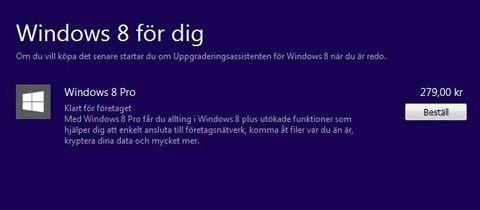 uppgradera windows 8