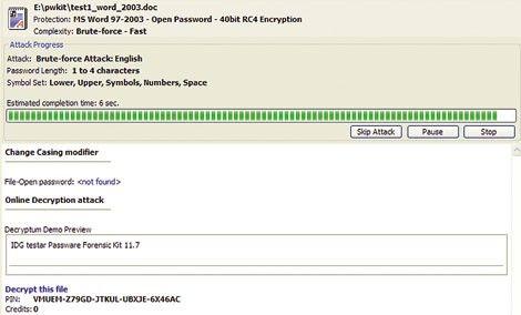 Decryptum öppnar wordfil