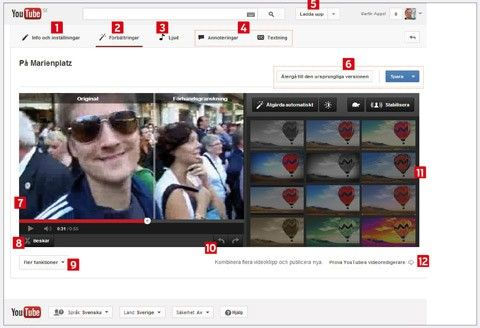 filmredigering youtube