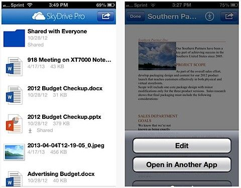 Skydrive Pro 1.1 ios