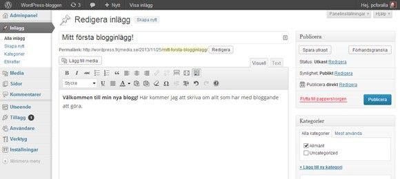 blogg wordpress