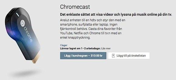 chromecast sverige