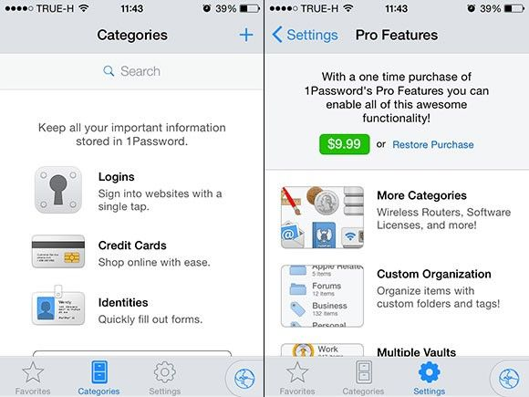 1Password 5.0 för IOS 8
