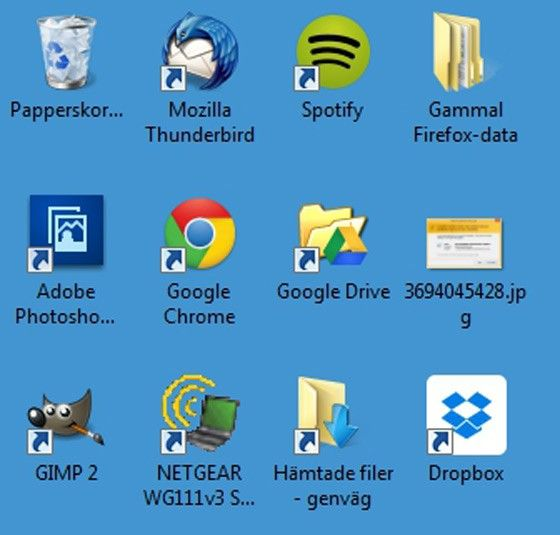 trött dator ikon, skrivbordet