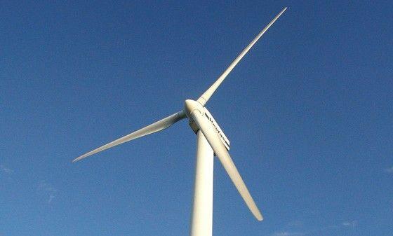 Ett vindkraftverk ger billig närproducerad elektricitet.