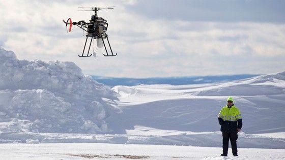 En uav ute på ännu ett hemligt uppdrag åt Försvarsmakten. Foto: Anders Åberg