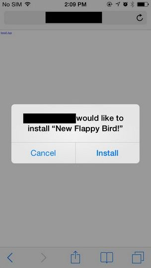 IOS installerar okänd app