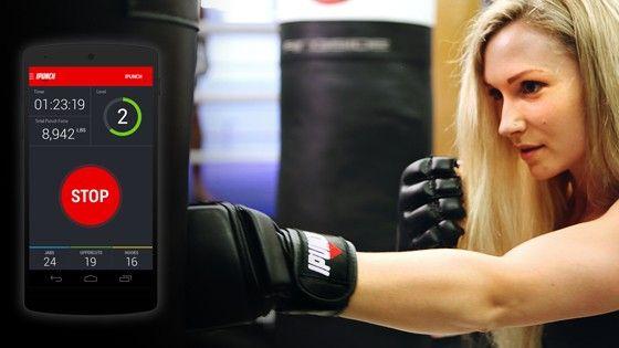 MMA-handskar från Ipunch med inbyggd rörelsemätare.