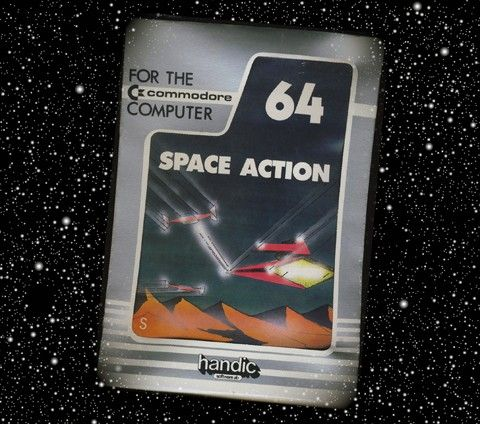 Space Action för Commodore 64 från Handic.