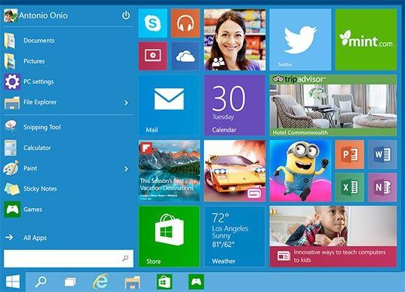 Windows 10 startmeny