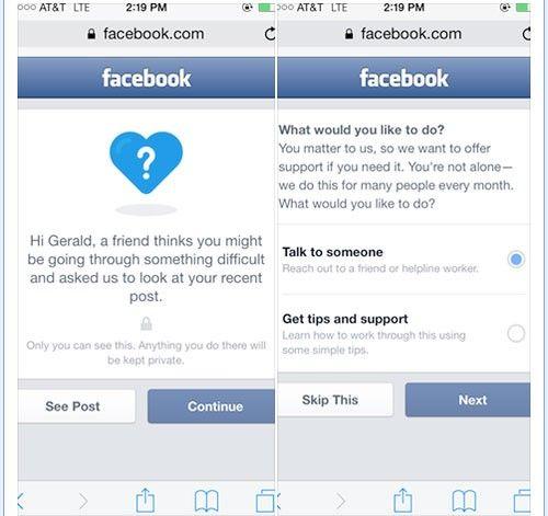 Så ska Facebook förhindra självmord