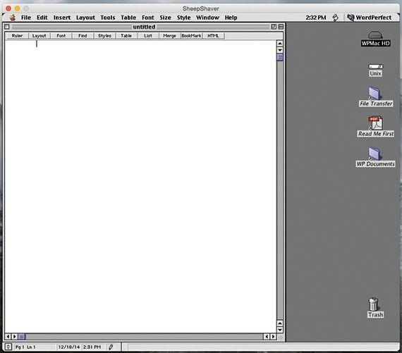Kör gamla klassiska Mac OS