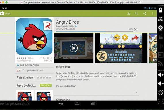 Använd Androidappar och -spel på Macen