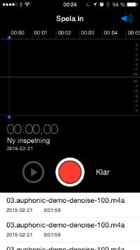 Hur hanterar jag en m4a-fil på Iphone?