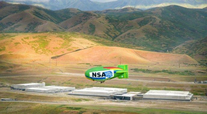 Luftskepp över NSA.