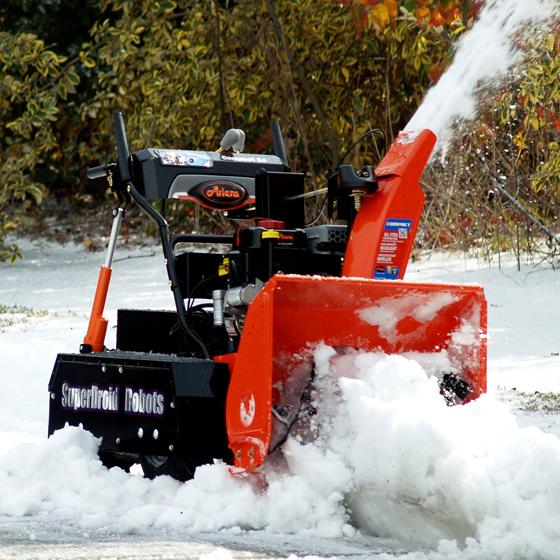 Snow blower robot