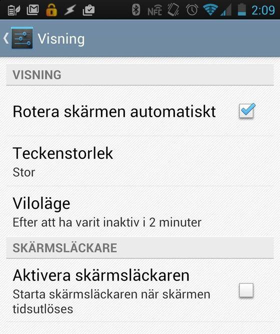 rotera skärm iphone x