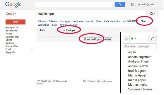 Google Hangouts mobilsamtal