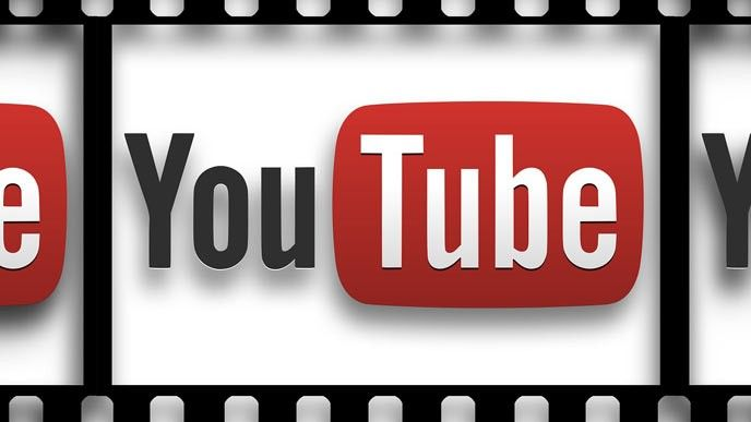 Youtube-logga i filmrulle