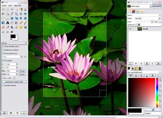 gimp fotoprogram bildredigering
