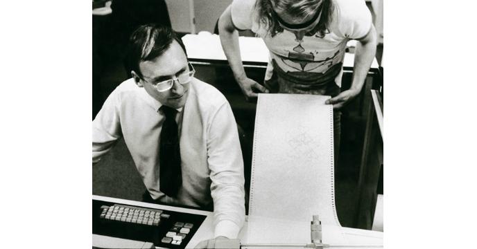 Sten Kallin och Sture Johannesson på IBM.