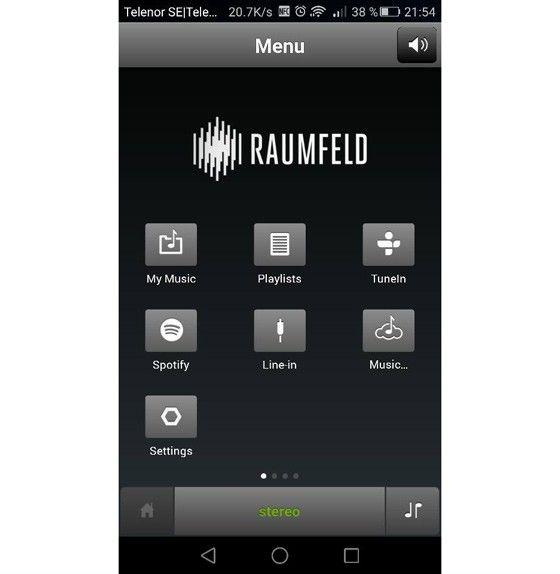 Raumfelt Stereo L app