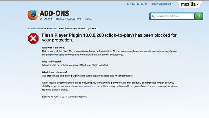 Flash Player lever på lånad tid  Nu blockerar Firefox