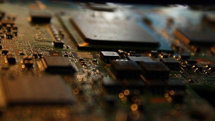 kretskort med processor