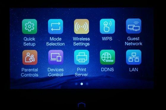 TP-link Touch P5 gränssnitt