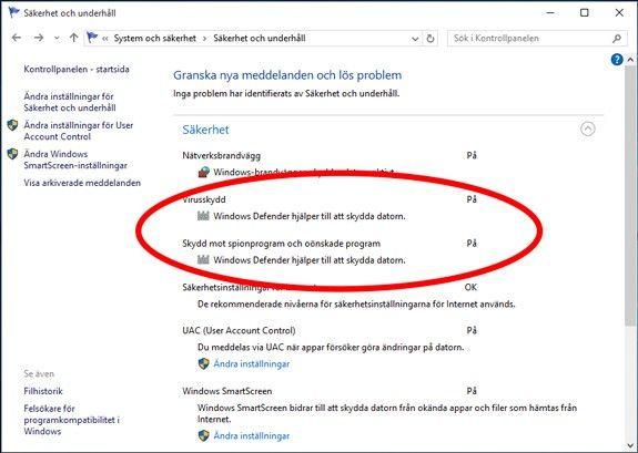 Windows 10 inställningar