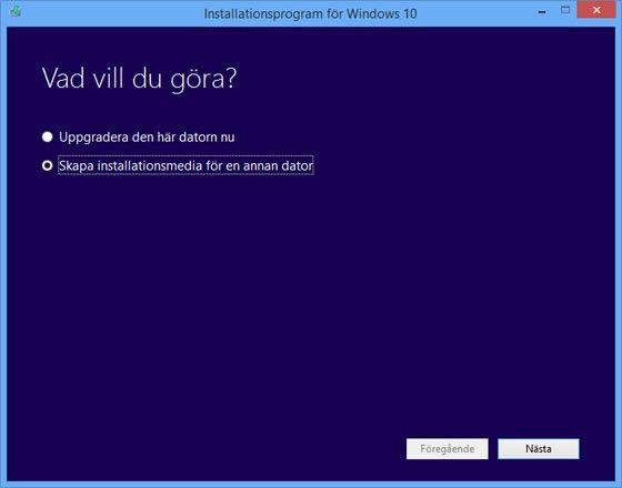 Installera Windows 10