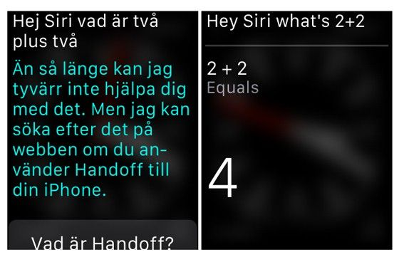 Apple Watch Siri räknar