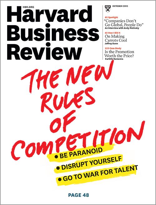 Harvard Business Review oktober 2015