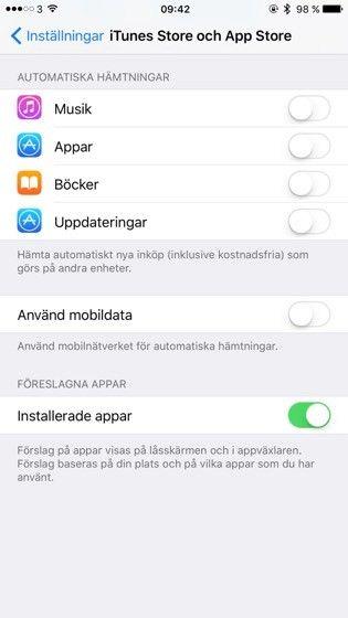 Inga uppdateringar över mobilnätet tack!