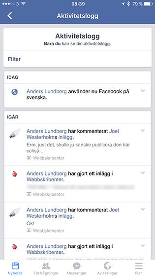 Facebook App Svenska